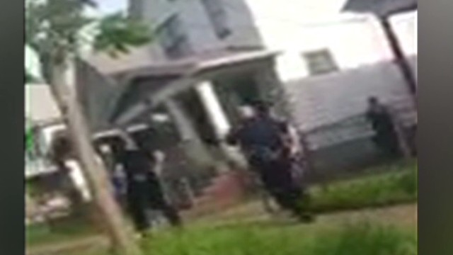New cell phone video of Cleveland escape