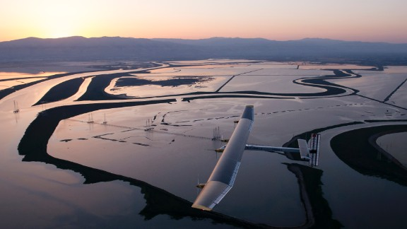 The plane's silicon solar cells are built into the forward and rear wings, rather than glued on. They number nearly 12,000.