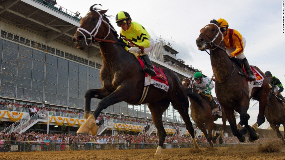It's raced on a dirt track, in May, and features the best horses from across the U.S. No, it's not the Kentucky Derby, it's the Preakness Stakes -- the second race in America's prestigious Triple Crown.