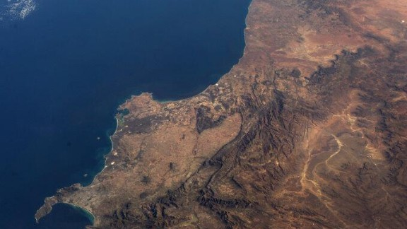 """This photo shows """"the southwest corner of Africa, from space."""""""