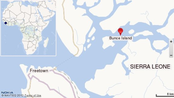 Map of Bunce Island. Click to expand.