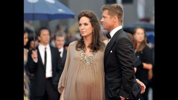 Jolie and Pitt appear at the Cannes Film Festival in May 2008.