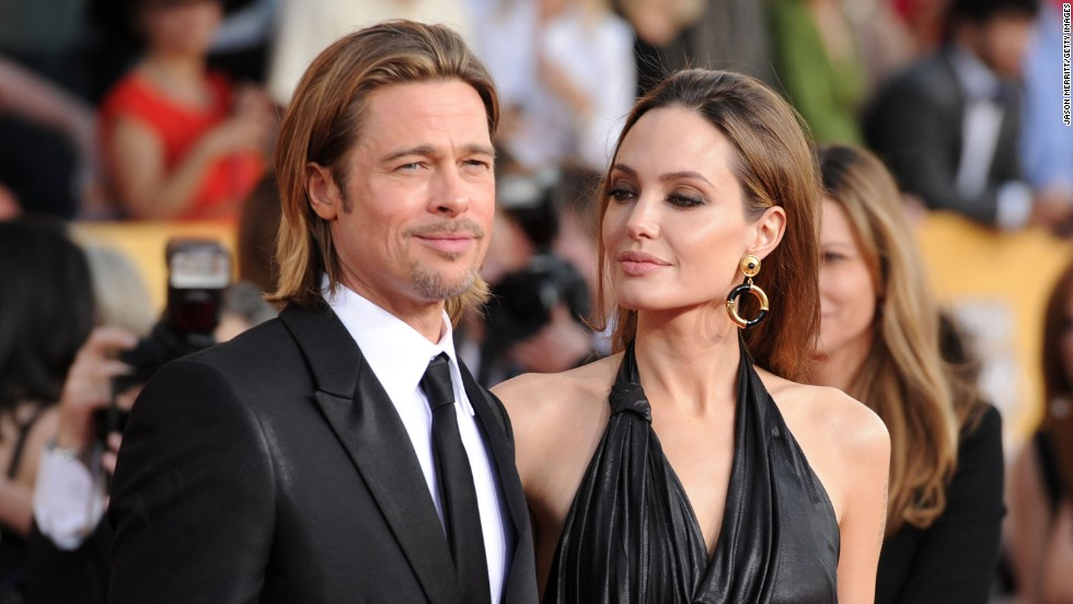 Jolie and Pitt appear at the Screen Actors Guild Awards in January 2012.