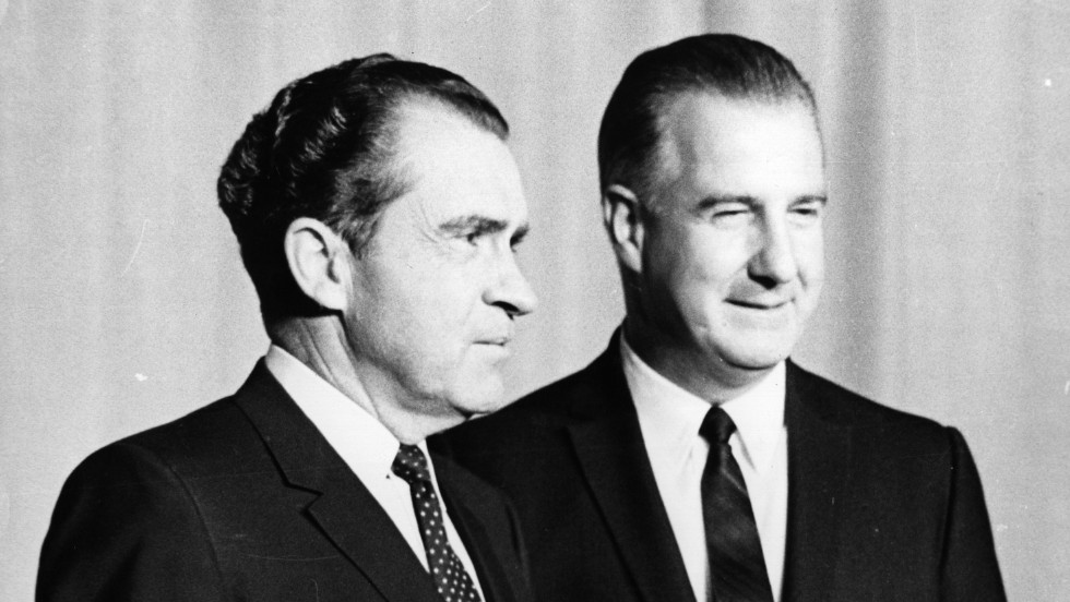 Spiro T. Agnew, who served as vice president under President Richard Nixon, resigned his position after being indicted for bribery charges, becoming the first U.S. vice president in history to resign under criminal charges.