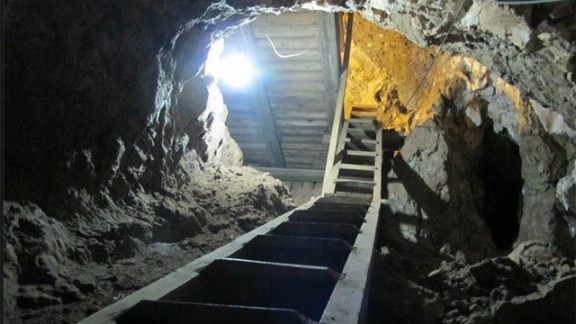 """Outside Johannesburg, South Africa, are more than a dozen ancient fossil sites, in an area known as the """"Cradle of Humankind."""" Deep in this cave in the area there are bones from walking beings millions of years old."""