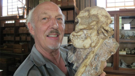 """Professor Ron Clarke and his team at Wits University, South Africa, excavated """"Little Foot"""" -- an """"australopithecus"""" or kind of an ape-man that changed our understanding of pre-human evolution."""
