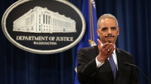 U.S. Attorney General Eric Holder holds a news conference about efforts by the Justice Department and the Health and Human Services Department to combat Medicare fraud at the Justice Department May 14, 2013 in Washington, DC. Holder faced a large number of questions about his department's investigation targeting phone records and data from the Associated Press.