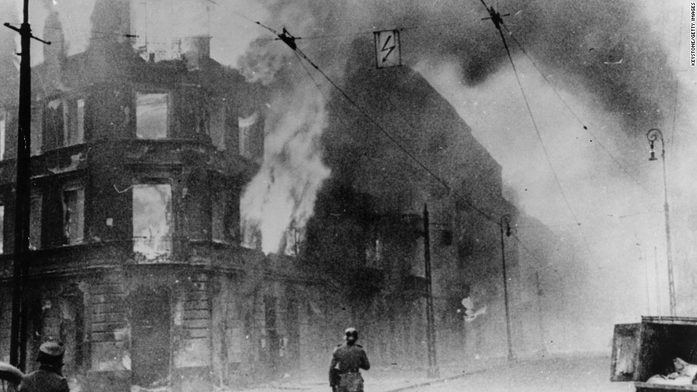 The uprising finally ended on May 16, 1943, when the Nazi soldiers set the district on fire and razed the ghetto to the ground.