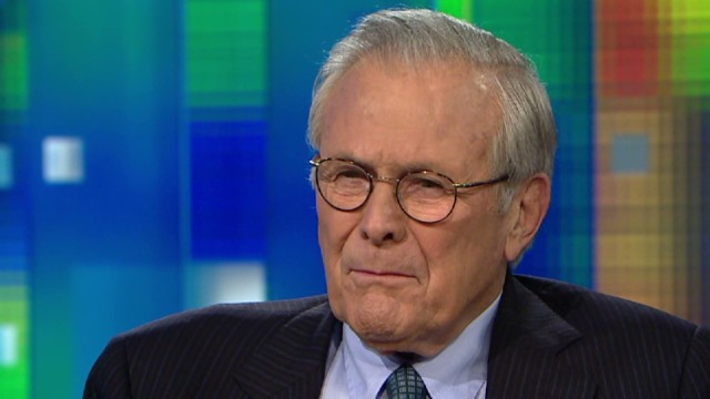 Rumsfeld: Scandals are perfect storm