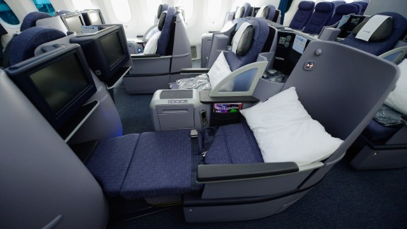 United Airlines is the lone U.S. carrier flying the Dreamliner. These are Business First Class seats on one of United's six 787s.