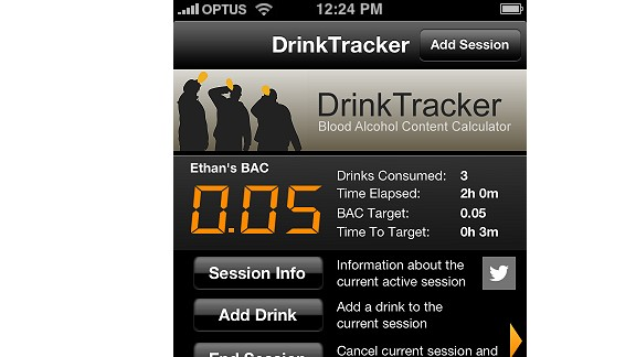 The DrinkTracker app will estimate your blood-alcohol level based on several factors.