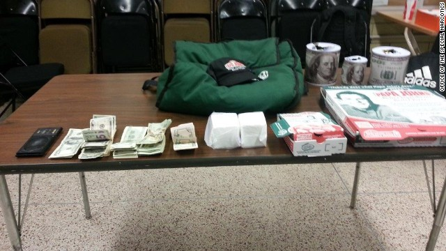 Pizza delivery man Ramon Rodriguez is accused of selling more than $45,000 in cocaine while at work.
