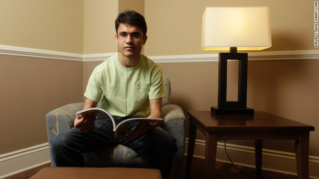Ehsan Rabbani graduates this summer. He fled Afghanistan for Pakistan, Iran and Azerbaijan before landing in America.