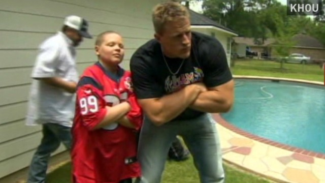 exp Bleacher Report Update-JJ Watt surprises cancer patient_00004420.jpg