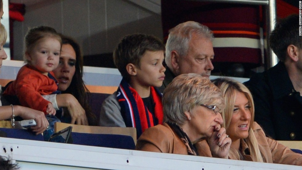 Beckham's pop star wife Victoria and family and friends were in the stands to watch his farewell match.