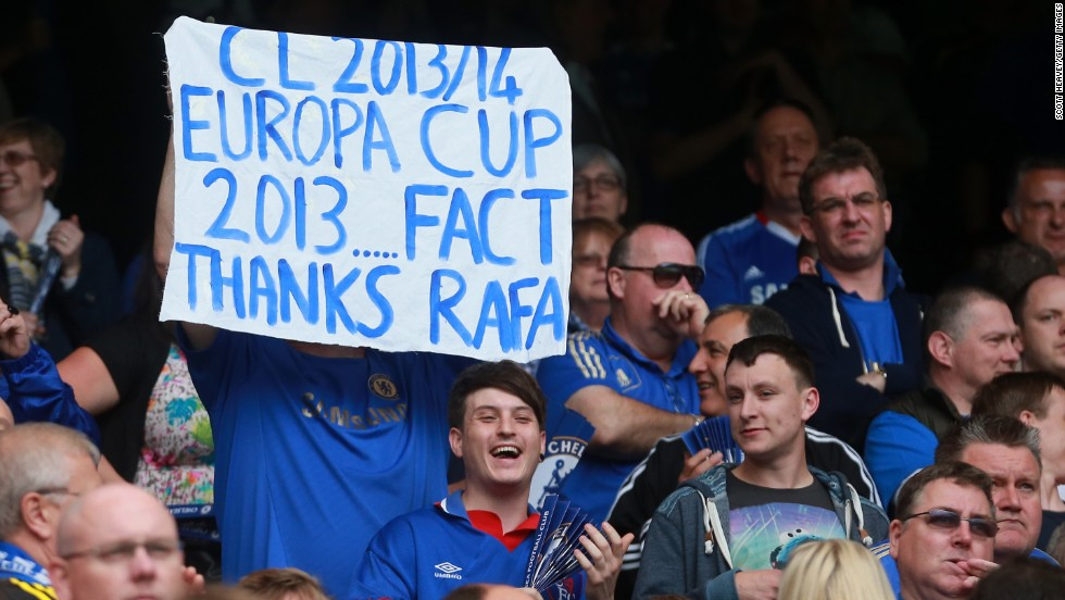Rafael Benitez is appreciated by a section of the Chelsea supporters as his spell as interim manager ends with a flourish.