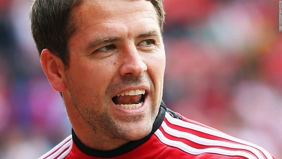 Michael Owen warms up before making a late appearance as a substitute for Stoke in his farewell to top flight football.