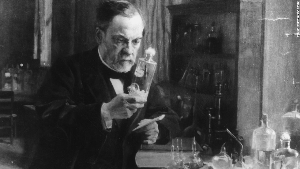 "You probably know <a href=""http://www.britannica.com/EBchecked/topic/445964/Louis-Pasteur"" target=""_blank"">Louis Pasteur</a> as the man who invented pasteurization. But Pasteur also developed the first vaccines for rabies and anthrax. The French microbiologist grew rabies in rabbits first to weaken the virus. Then in 1885, he injected the vaccine into a 9-year-old boy who had been attacked by a dog; it was a success and Pasteur became famous."