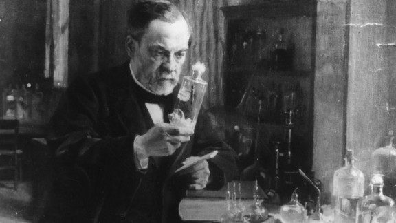 You probably know Louis Pasteur as the man who invented pasteurization. But Pasteur also developed the first vaccines for rabies and anthrax. The French microbiologist grew rabies in rabbits first to weaken the virus. Then in 1885, he injected the vaccine into a 9-year-old boy who had been attacked by a dog; it was a success and Pasteur became famous.