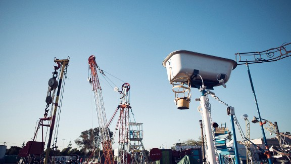 The world's largest mousetrap is a traveling Rube Goldberg device that teaches Faire-goers about physics, engineering and the coolest way to smash a car.