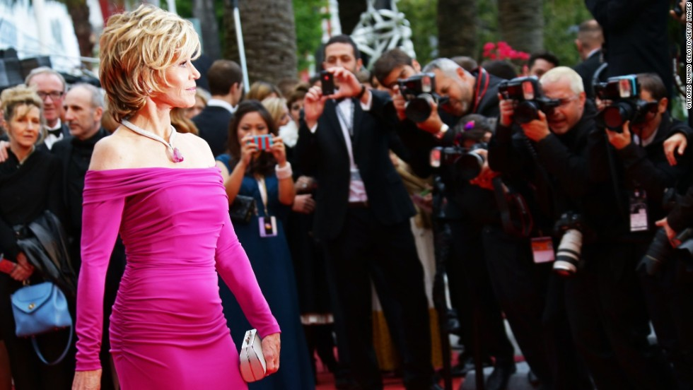 "Jane Fonda attends the ""Inside Llewyn Davis"" screening at Cannes on May 19."