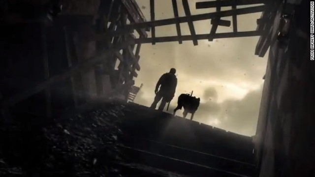 "The image is from an online trailer for the upcoming ""Call of Duty: Ghosts."""