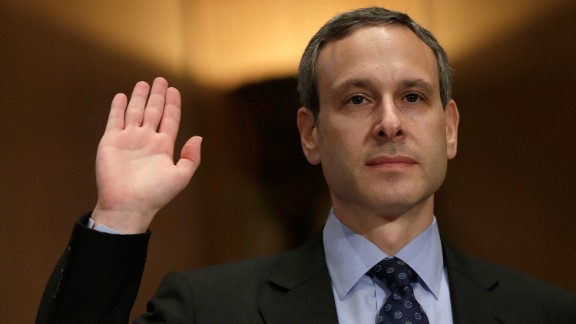 Former IRS Commissioner Douglas Shulman is sworn in prior to testifying before the Senate Finance Committee in May 2013. Shulman was at the helm of the IRS during most of the period that agents were targeting conservative groups. Shulman denied full awareness of what was happening at the time, saying subordinates failed to inform him of the details.