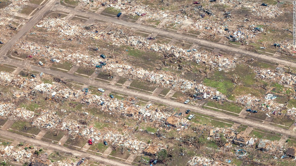 The Storm, Which Touched Down Near Newcastle, Oklahoma, Spanned 1.3 Miles.  Some