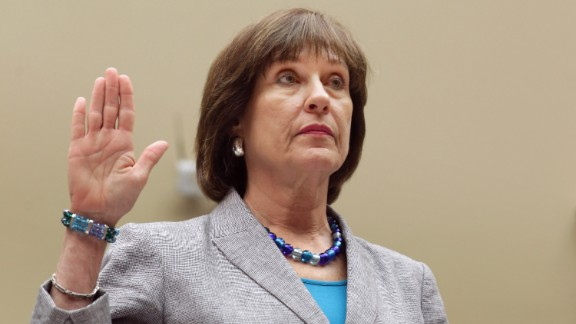 Lois Lerner is sworn in before testifying to the House Oversight and Government Reform Committee in May 2013.  As the former IRS director of exempt organizations, Lerner headed the division involved in targeting conservative groups. She invoked her constitutional right against self-incrimination and refused to answer questions from the congressional committee.