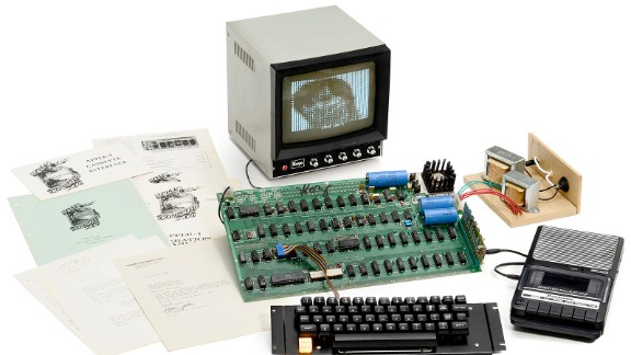 """A rare Apple 1 computer is to be auctioned in Cologne, Germany. The original Apple was the first computer to be built by the California-based technology company. Up for auction is one of only six surviving """"Apple 1"""" computers still in working order"""