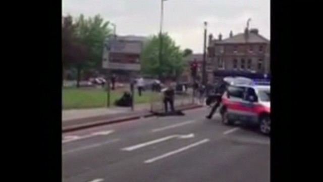 Cell phone video of London attack scene