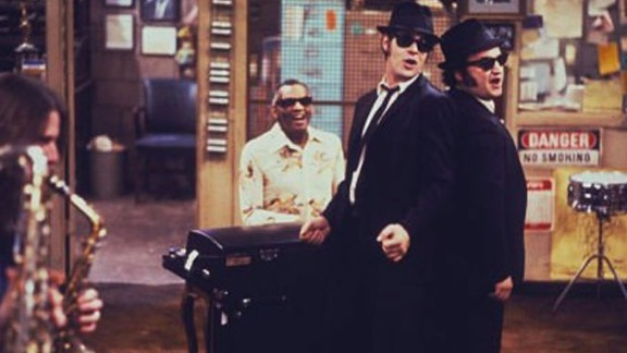 """<strong>""""The Blues Brothers"""" (1980)</strong>: Soulful and mischievous musicians Jake (John Belushi) and Elwood (Dan Aykroyd) weren't just buds but, as the title suggests, brothers, as well. The characters survived the jump from being a """"Saturday Night Live"""" skit to landing on the big screen with """"a mission from God"""" in 1980. """"Blues Brothers"""" has since become a fan favorite and spawned a sequel in 1998."""