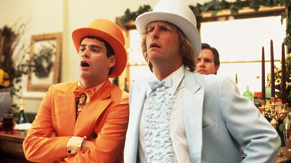 """<strong>""""Dumb & Dumber"""" (1994)</strong>: It's just one of Jim Carrey's string of 1994 comedies. The actor crafted a standout favorite alongside Jeff Daniels in this movie about two idiotic but lovable friends."""