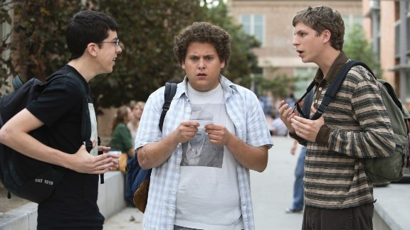 """<strong>""""Superbad"""" (2007)</strong>: A buddy movie set amid the drama of high school, Jonah Hill had a breakout role along with Michael Cera and """"McLovin'"""" Christopher-Mintz Plasse as they portrayed a trio of uncool kids whose use of a fake IDs sets off the night of their lives."""