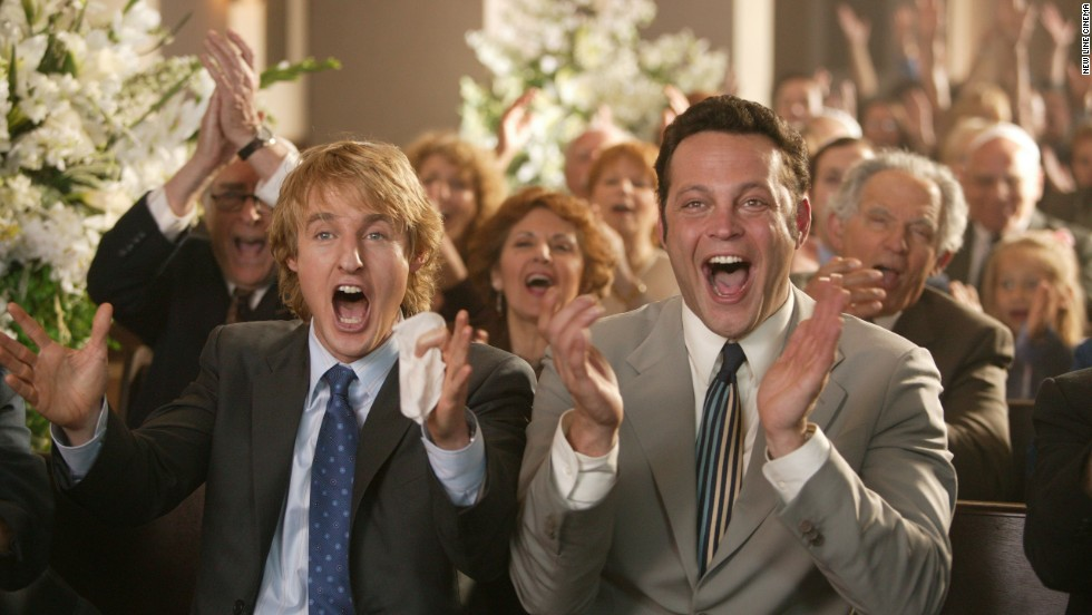 "<strong>""Wedding Crashers"" (2005)</strong>: Vince Vaughn was once again portraying the brash playboy to great effect in ""Wedding Crashers,"" which also starred Owen Wilson as Vaughn's more sensitive party-crashing cohort."