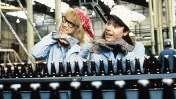 """<strong>""""Wayne's World"""" (1992)</strong>: Another comedy with roots in """"Saturday Night Live,"""" Dana Carvey and Mike Myers influenced a generation -- and generated plenty of catchphrases -- as local public access talk show hosts Garth and Wayne."""