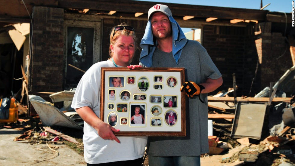 Trisha Jones and her fiance, Shaun Samuel, recovered a photo collage that Trisha received as a graduation gift.