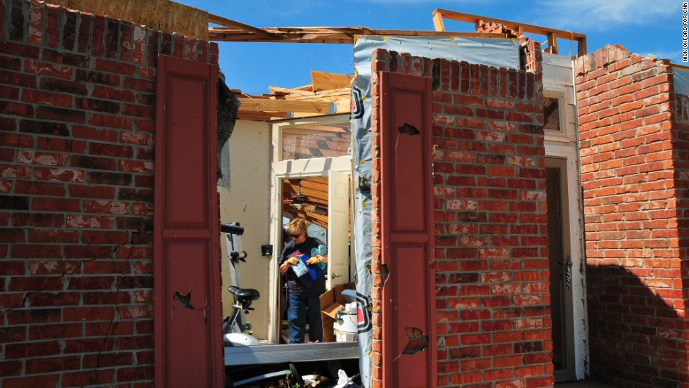 Cheryl Richeson survived Monday's tornado by hiding out in her family's safe room, which is built to withstand Oklahoma's severe weather.