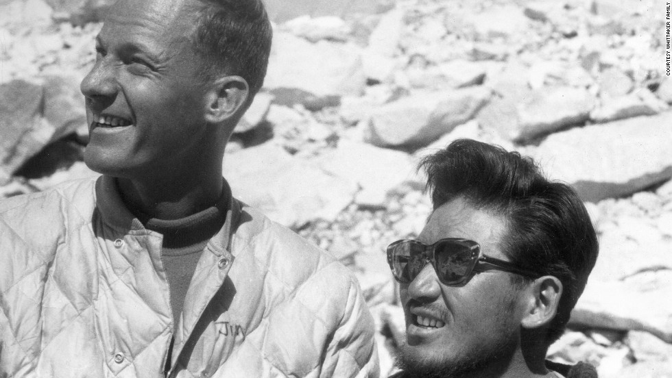 Jim Whittaker, left, and Sherpa Nawang Gombu summited Mount Everest together in 1963. It cemented a bond for the two men. Click through our gallery to see Whittaker's time on Everest, and how his son, Leif, has followed in his footsteps.