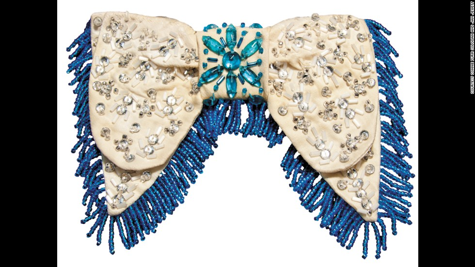 This bow tie had the addition of fringe to add to its decadence.