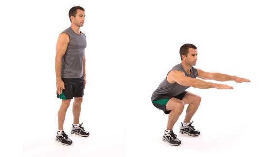 Squat: Works lower body