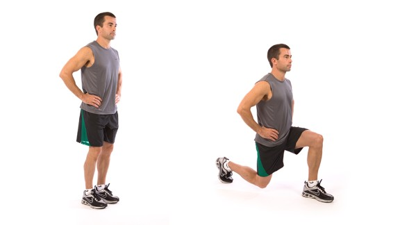 Lunge: Works lower body