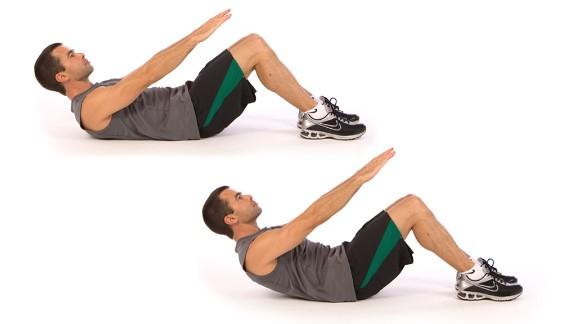 Abdominal crunch: Works core