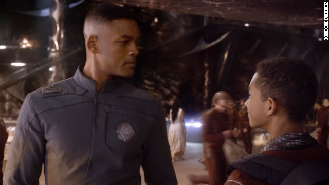 "Will Smith stars with son Jaden in ""After Earth."""