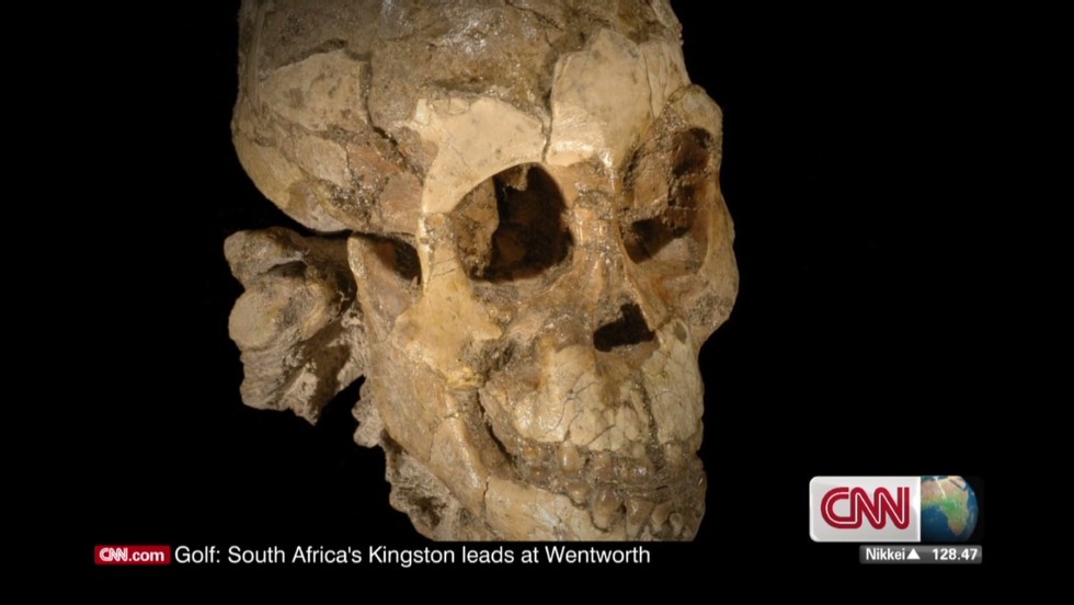 "These are the skeletal remains of ""Selam,"" a three-year-old girl who died 3.3 million years ago. She is the earliest skeleton of a child ever found."