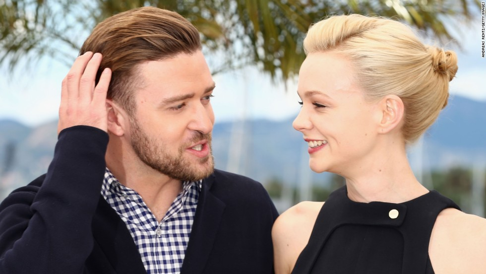 """Inside Llewyn Davis"" co-stars Justin Timberlake and Carey Mulligan attend a Cannes photocall on May 19."