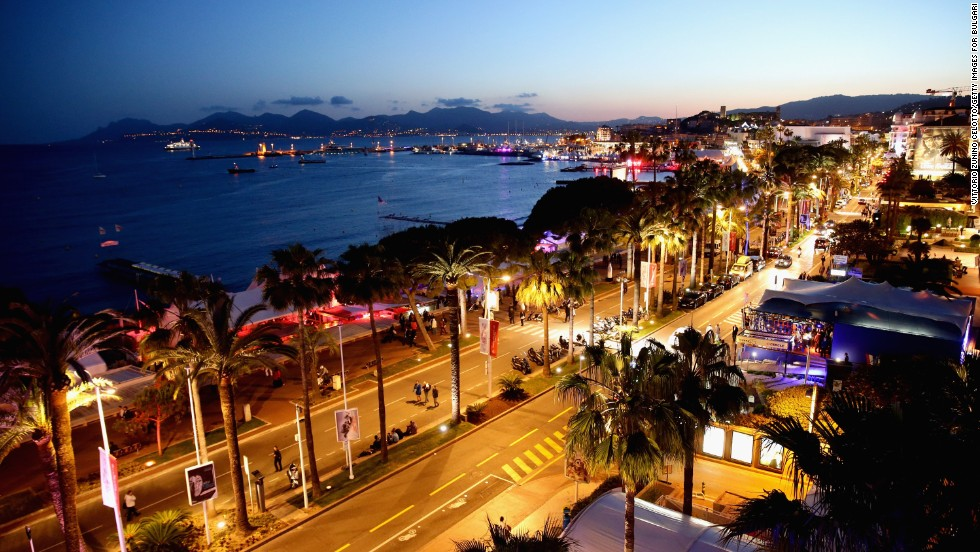 "A view from the ""Cleopatra"" cocktail at Cannes on May 21."
