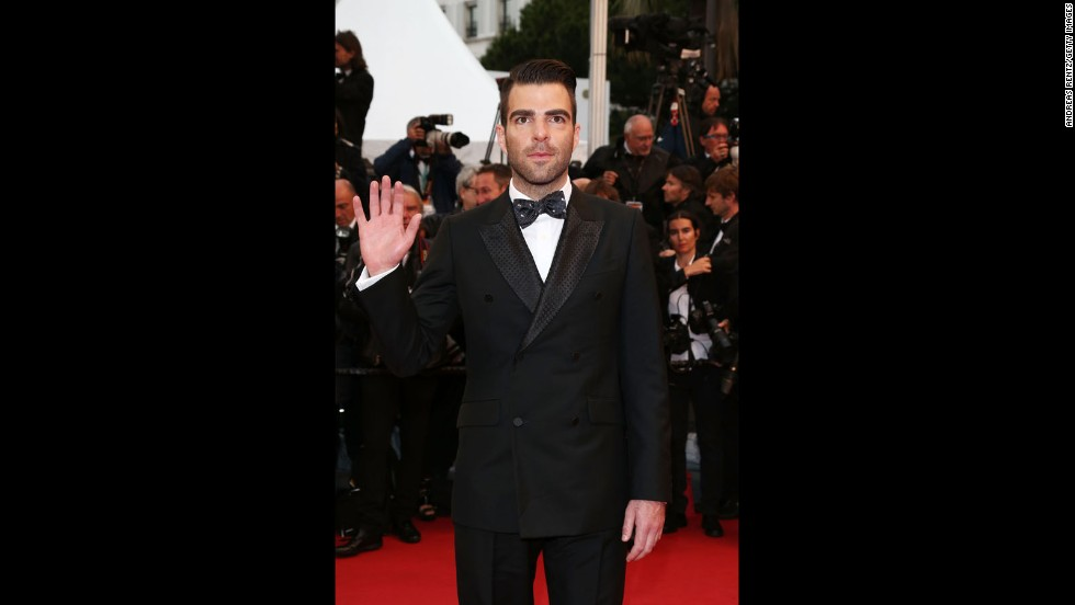 """Star Trek Into Darkness"" star Zachary Quinto arrives at the Cannes premiere of ""All Is Lost"" on May 22."