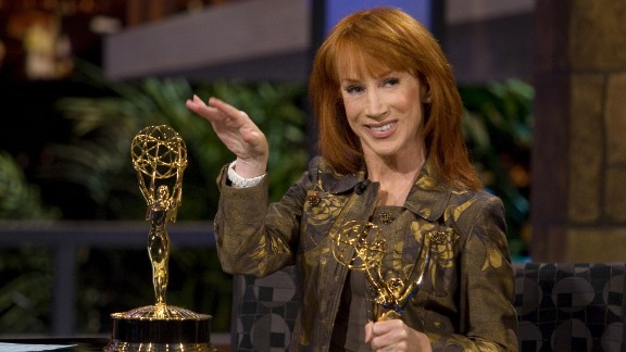 "Comedian Kathy Griffin, a self-described ""militant atheist,"" made her position clear with a controversial Emmy Award acceptance speech in 2007. ""A lot of people come up here and they thank Jesus for this award,"" she said. ""I want you to know that no one had less to do with this award than Jesus. He didn"