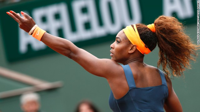 Serena Williams enjoyed the first round of this year's French Open more than last year.